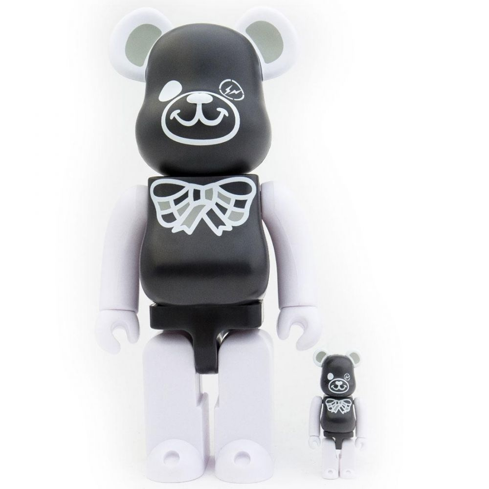 コレクション, フィギュア  Bearbrick x freemasonry x fragment design black 100 400 bearbrick figure setblack