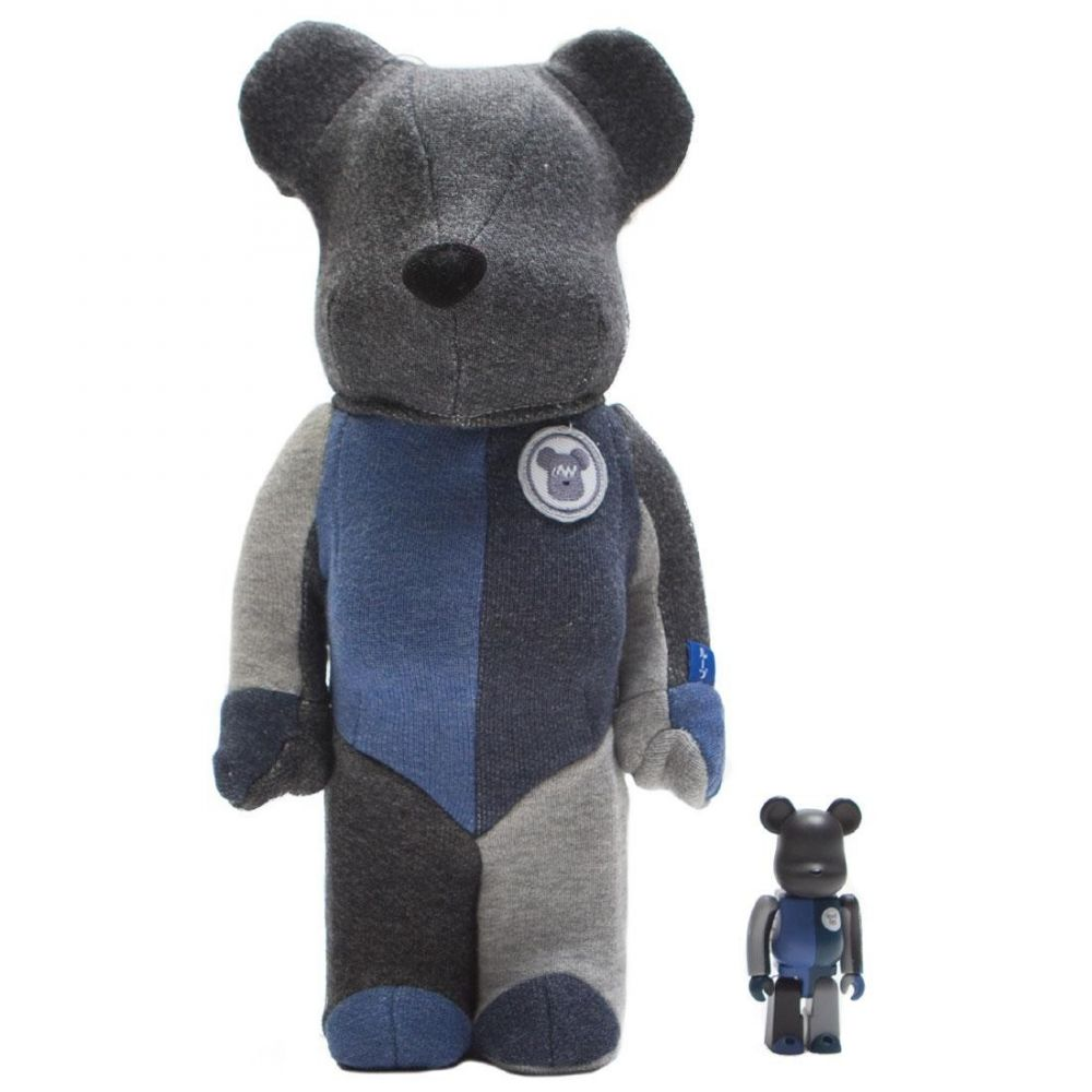 コレクション, フィギュア  Bearbrick loopwheeler 100 400 bearbrick setgrayblue
