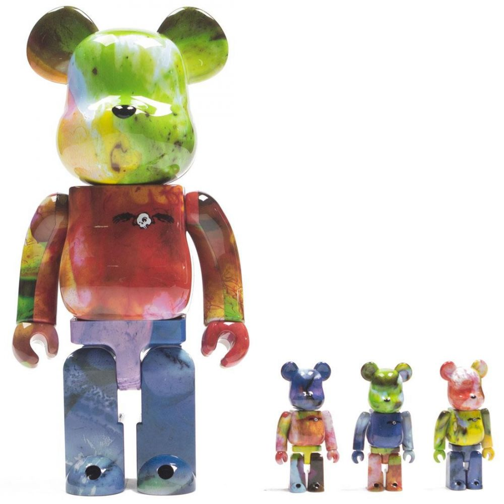 コレクション, フィギュア  Bearbrick pushead 3 colors 100 400 4 pcs bearbrick setmulti