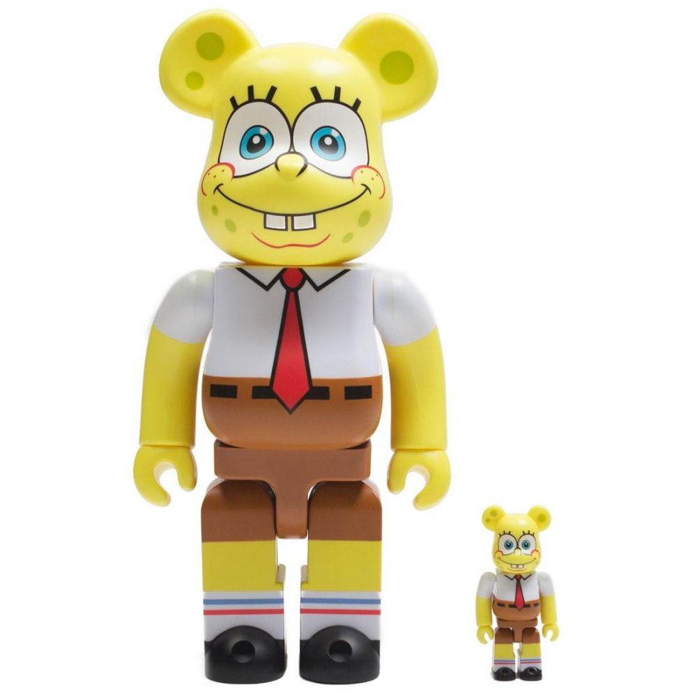 コレクション, フィギュア  Bearbrick nickelodeon spongebob squarepants 100 400 bearbrick figure setyellow