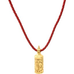 BAIT メンズ ネックレス ジュエリー・アクセサリー【Sriracha Necklace - Red Leather】gold/red