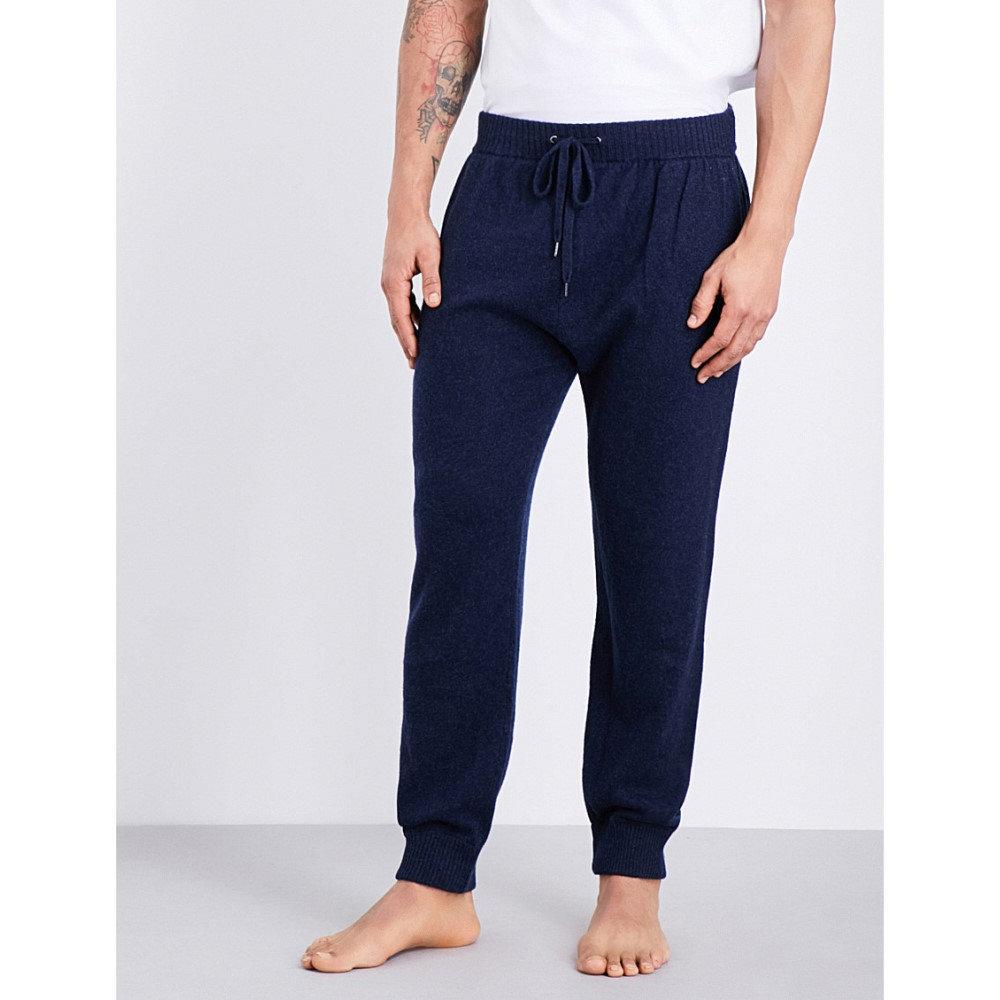 デリック ローズ derek rose メンズ インナー パジャマ・ボトムのみ【finley cashmere pyjama bottoms】Midnight:フェルマート
