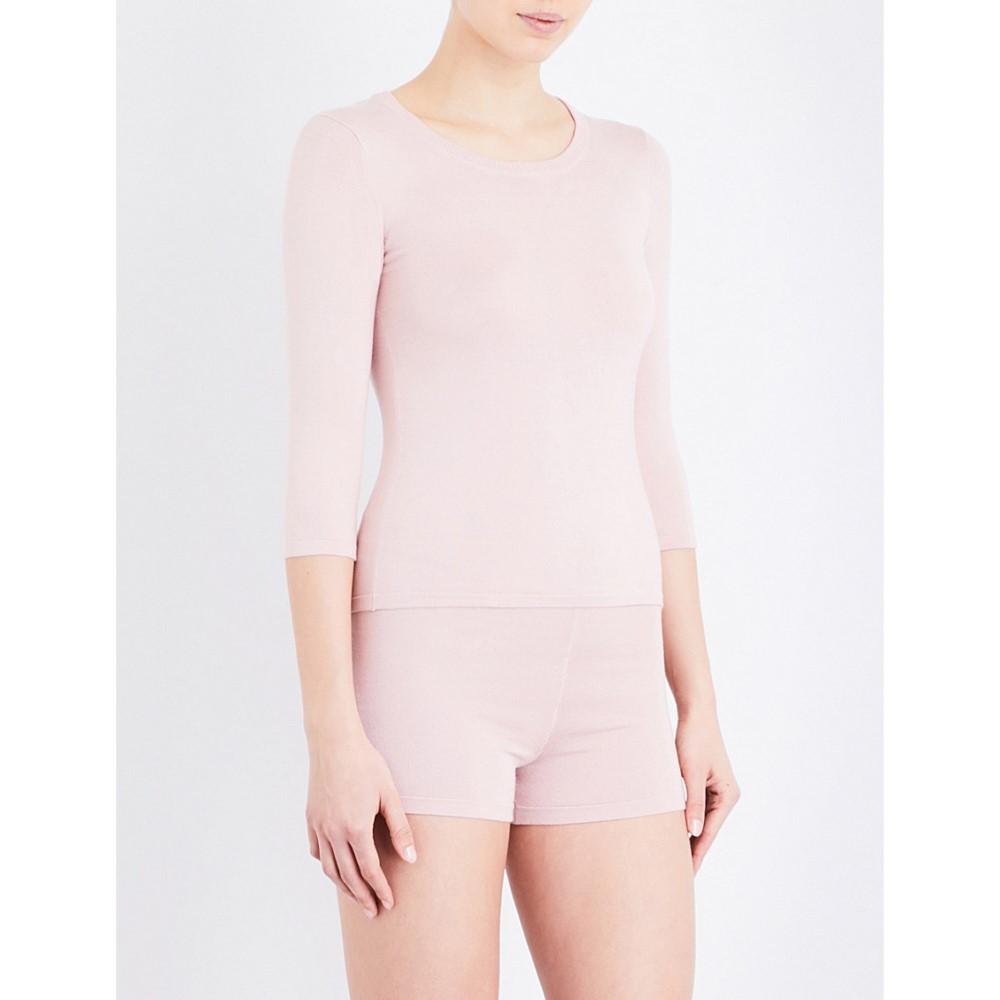 ラ ペルラ la perla レディース トップス 長袖シャツ【new silk soul stretch-silk top】Light rose:フェルマート