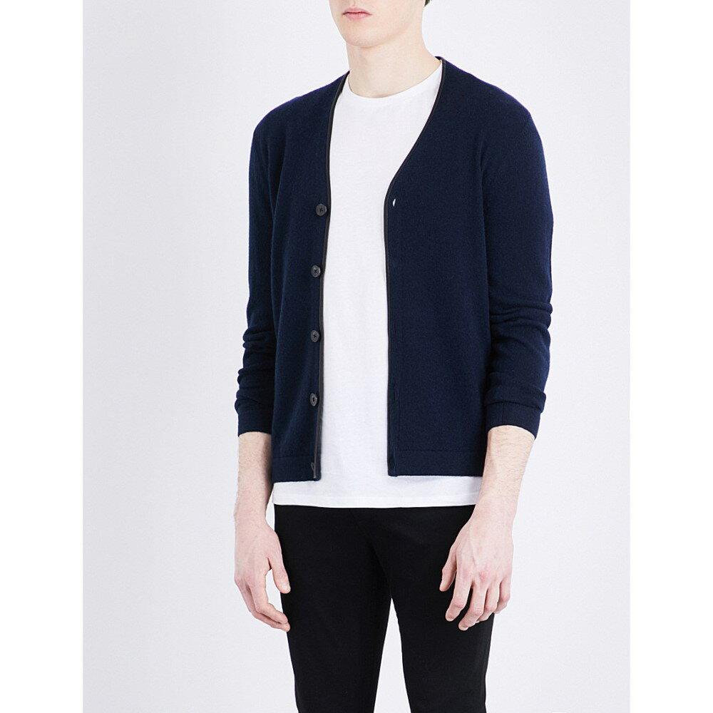 クーパース the kooples メンズ アウター カーディガン【v-neck knitted cashmere cardigan】Nav01:フェルマート