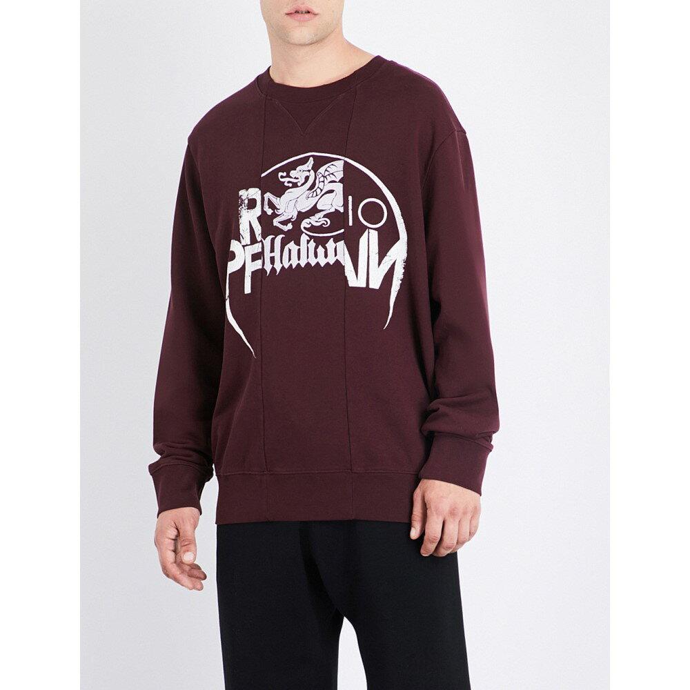 エムエム6 メゾン マルジェラ maison margiela メンズ トップス トレーナー【panelled cotton-jersey sweatshirt】Bordeaux:フェルマート