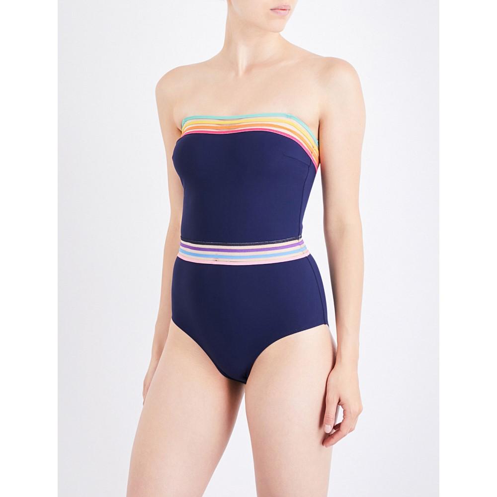 エマパケ emma pake レディース 水着 スイムウェア【monica bandeau swimsuit】Midnight blue:フェルマート