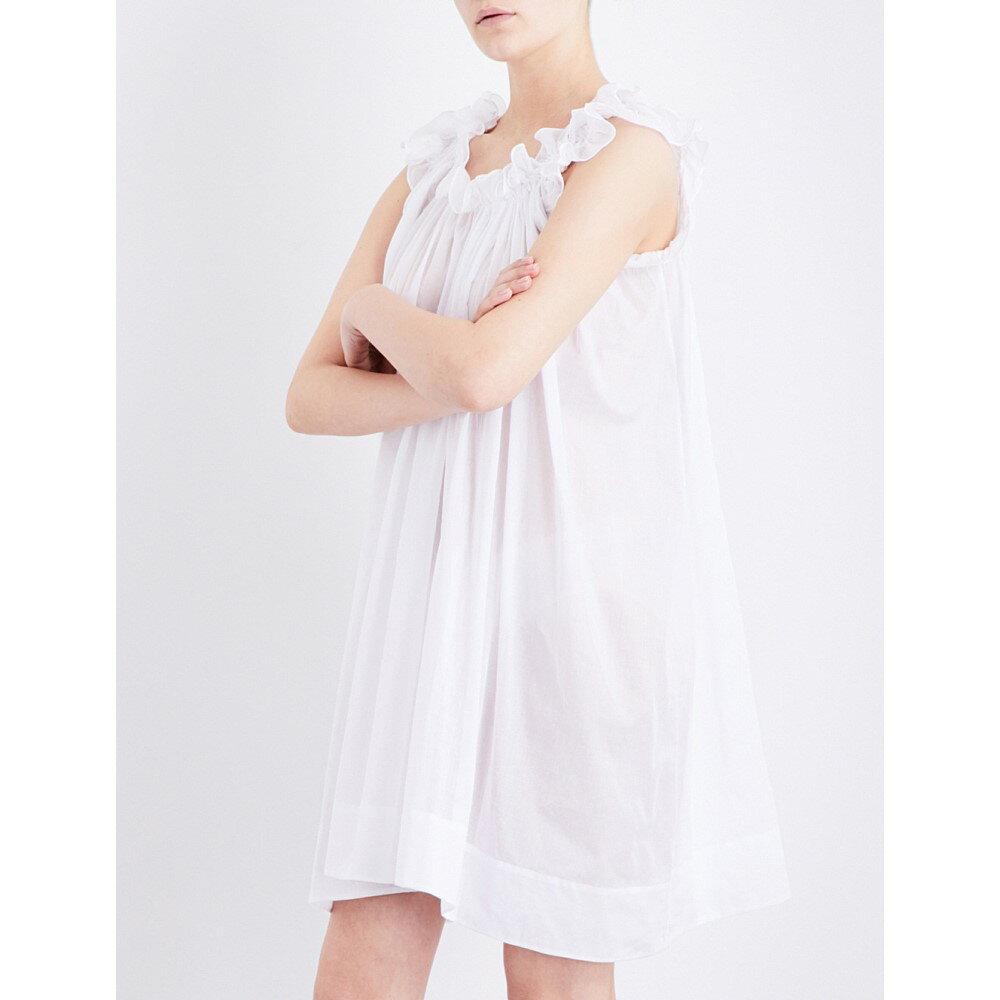 スリーグレイス three graces london レディース インナー パジャマ【leonore cotton-voile nightdress】White:フェルマート