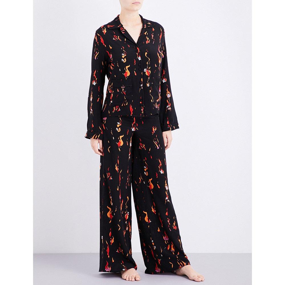 ロッキンス rockins レディース インナー パジャマ【flower and flames silk-crepe pyjama set】Flower and flames:フェルマート