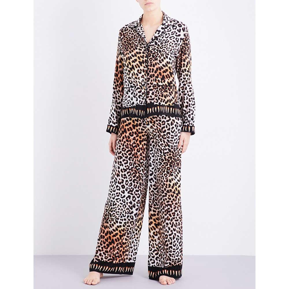 ロッキンス rockins レディース インナー パジャマ【leopard-print silk pyjama set】Natural  leopard:フェルマート
