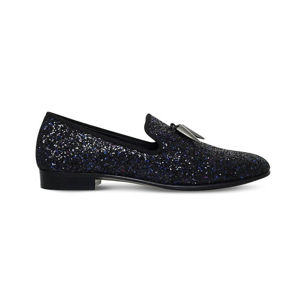 ジュゼッペ ザノッティ giuseppe zanotti メンズ シューズ・靴 ローファー【sharktooth glitter leather slippers】Blk/blue:フェルマート