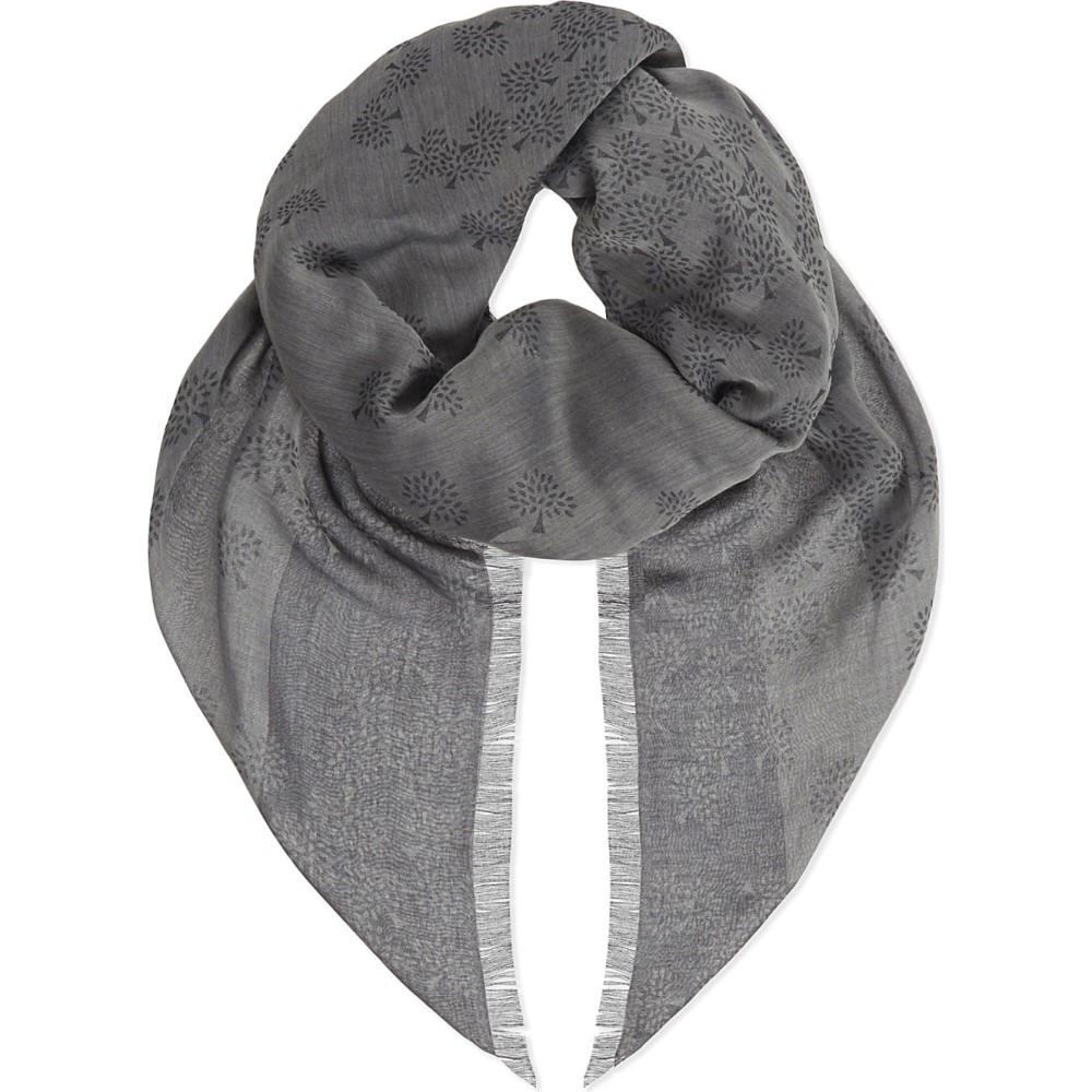 マルベリー mulberry レディース アクセサリー スカーフ・マフラー【tamara cotton scarf】Grey:フェルマート