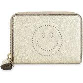 アニヤ ハインドマーチ anya hindmarch レディース 財布・時計・雑貨 財布【smiley small leather purse】Pale gold
