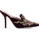 アルベルタ フェレッティ alberta ferretti レディース シューズ・靴 サンダル・ミュール【embroidered velvet mules】Purple