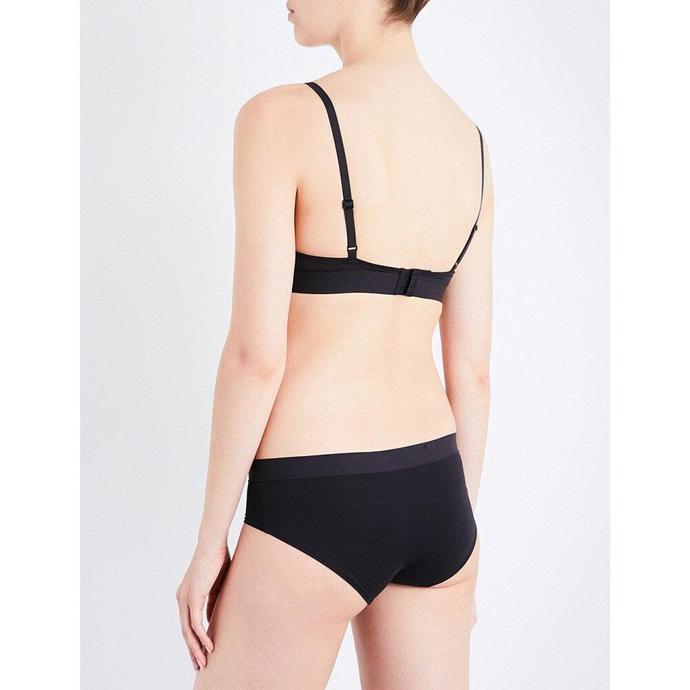 ダナ キャラン ニューヨーク レディース インナー・下着 ブラジャーのみ【classic cotton stretch-cotton plunge bra】Black
