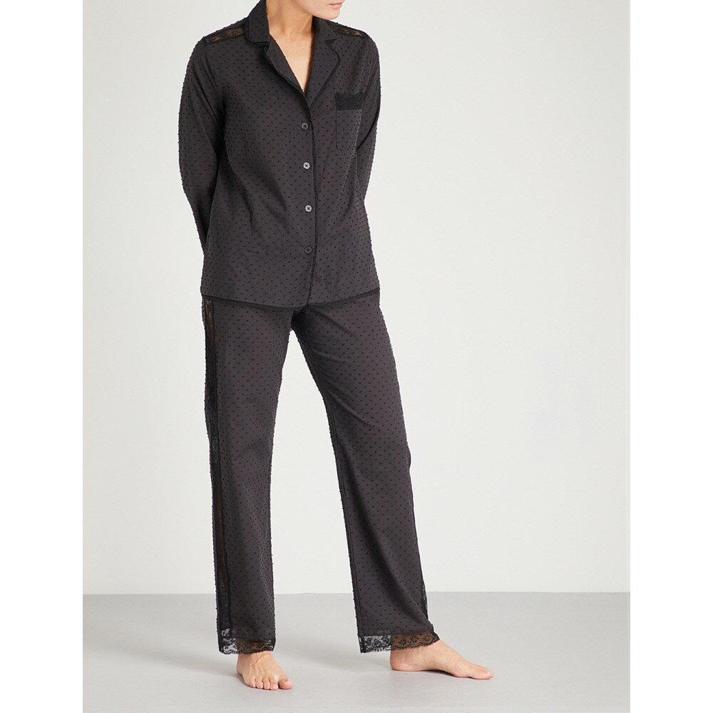 モルフォ アンド ルナ レディース インナー・下着 パジャマ・上下セット【ines cotton-poplin pyjama set】Black