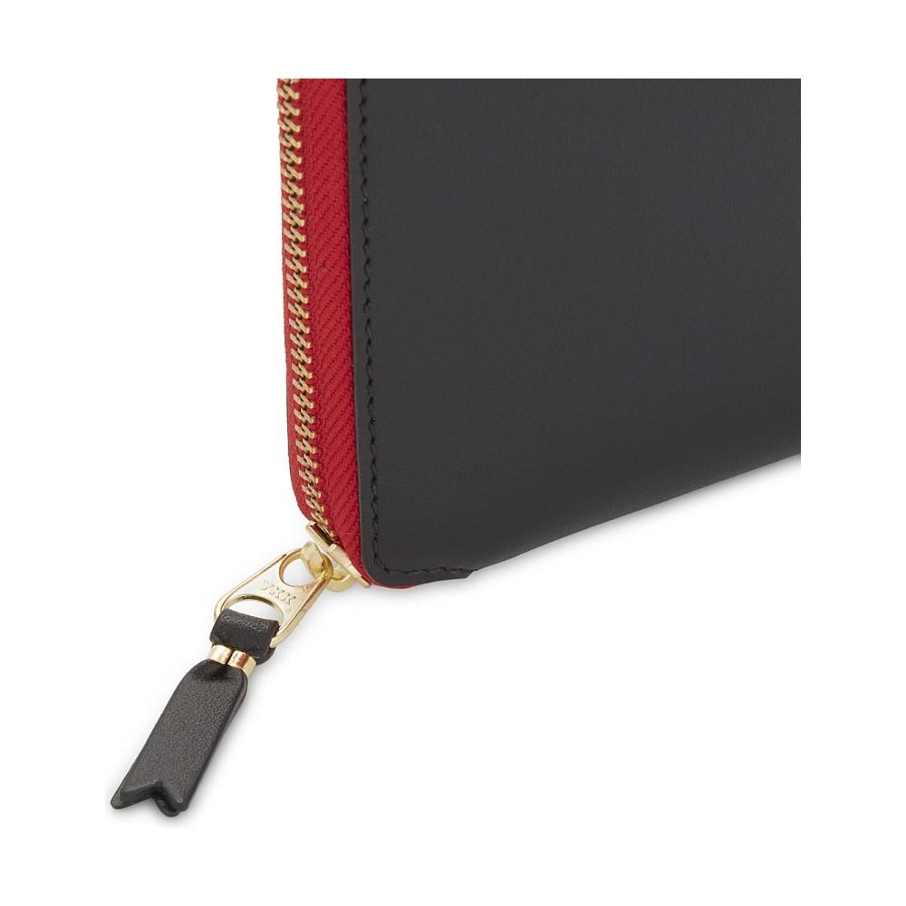 コム デ ギャルソン レディース 財布【tongue and teeth leather wallet】Black