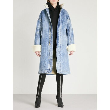 フィアオブゴッド レディース アウター コート【fifth collection shearling and selvedge denim coat】Holy water wash