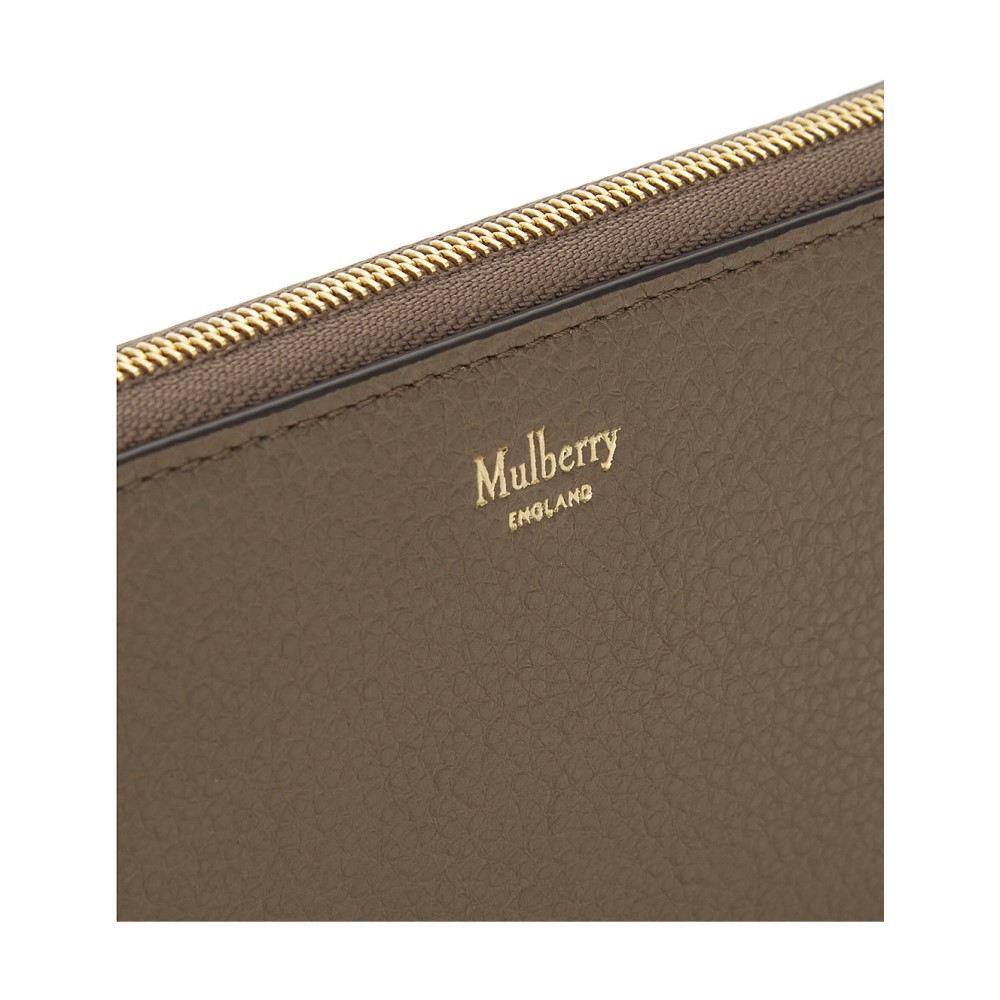 マルベリー レディース 財布【8 cc grained leather zip-around wallet】Clay