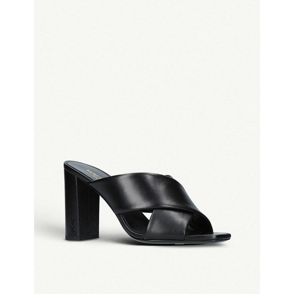 イヴ サンローラン レディース シューズ・靴 サンダル・ミュール【loulou 95 leather mules】Black