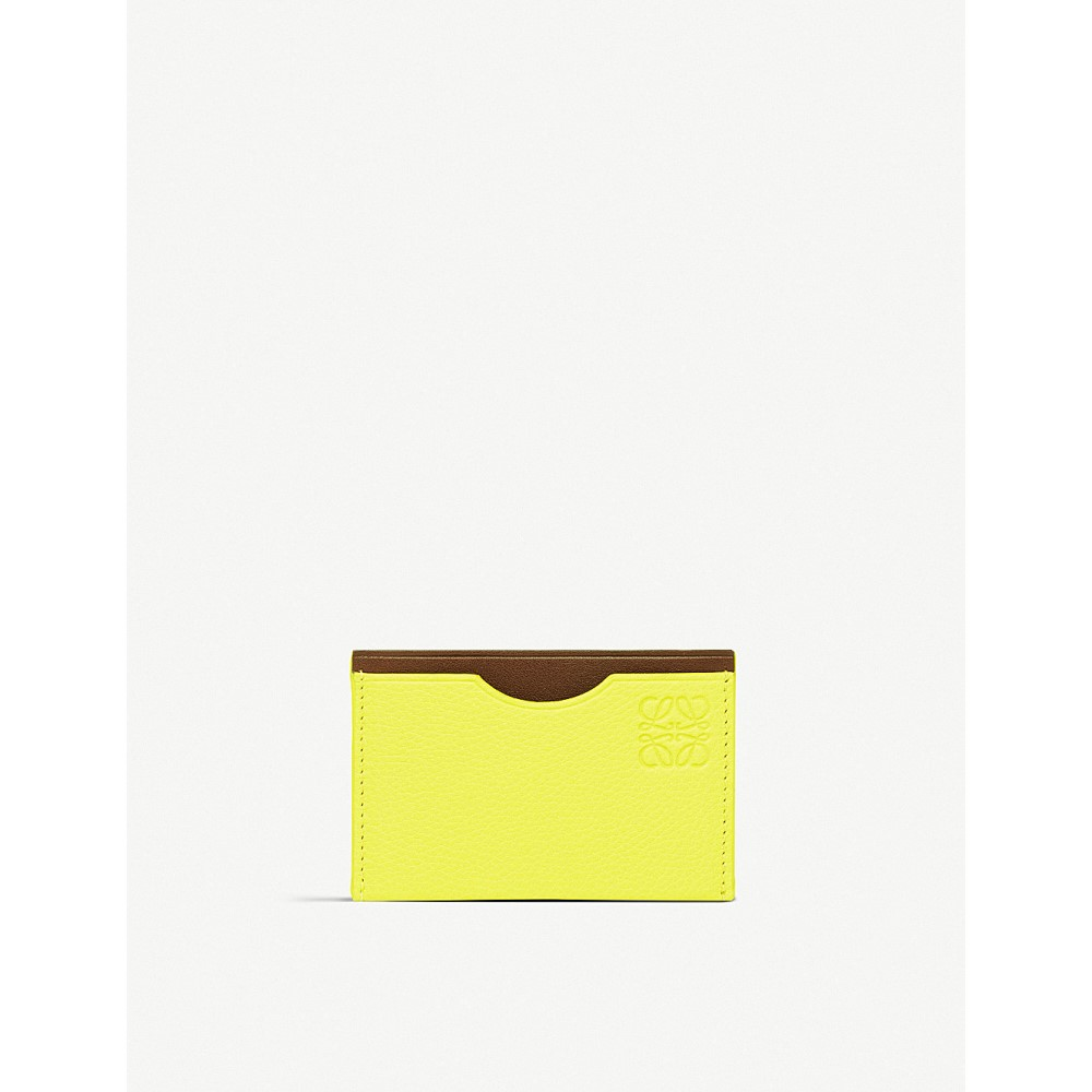 6c1d7dd28320 ロエベ レディース カードケース・名刺入れ【embossed leather card holder】Yellow lemn/burg ロエベ  レディース 財布・時計・雑貨 カードケース・名刺入れ 【サイズ ...