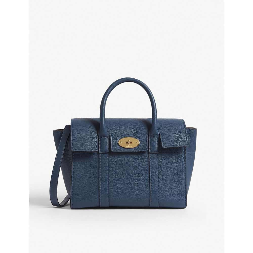 e2d95e459141 マルベリー レディース バッグ トートバッグ【bayswater small grained leather tote】Deep sea マルベリー  レディース バッグ トートバッグ 【サイズ交換無料】
