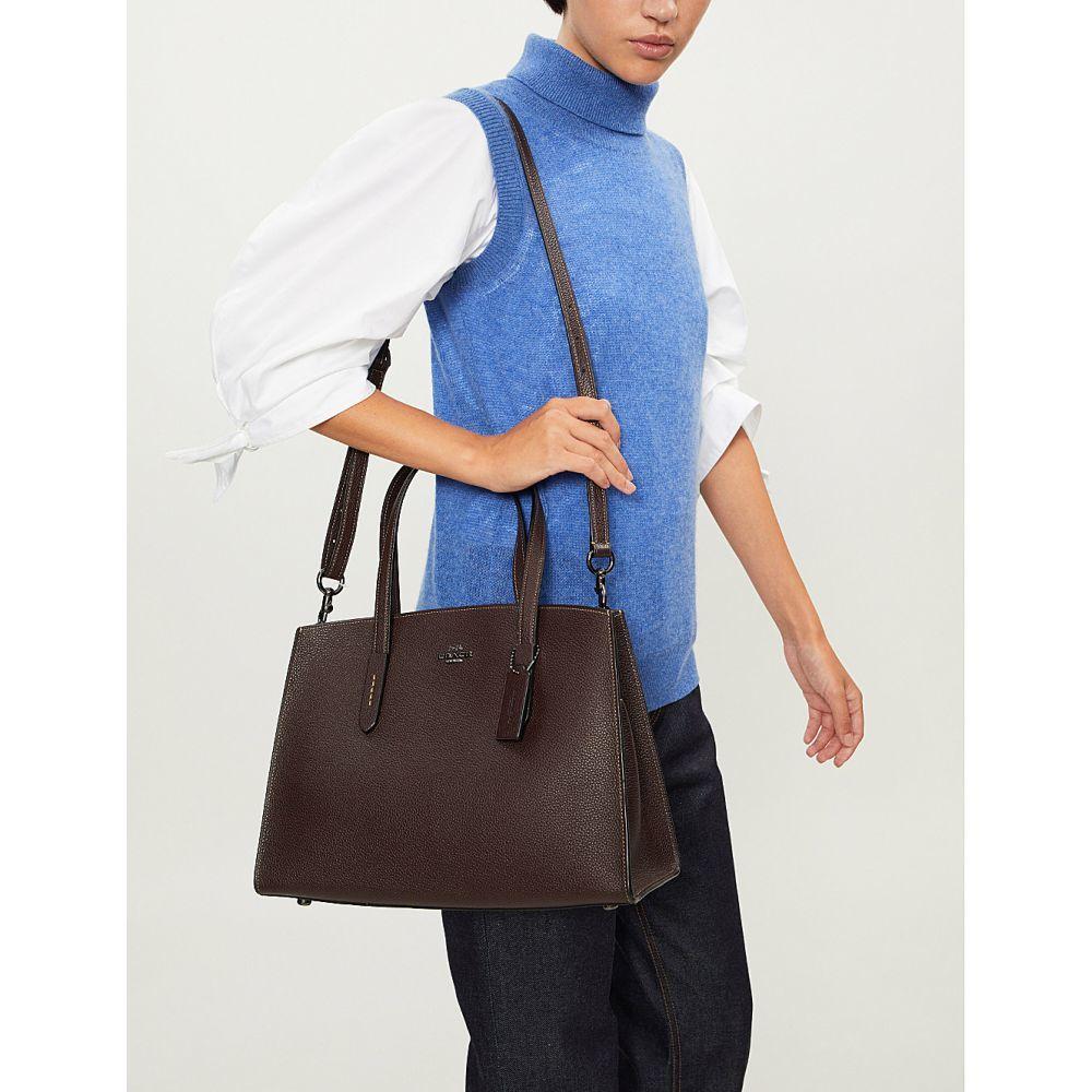 コーチ coach レディース バッグ ショルダーバッグ【charlie leather carryall shoulder bag】Dk/oxblood