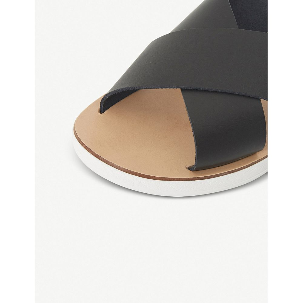 スティーブ マデン steve madden レディース シューズ・靴 サンダル・ミュール【trent crossover white-sole sliders】Black-leather