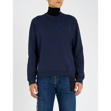 ケンゾー kenzo メンズ トップス スウェット・トレーナー【logo-print cotton-jersey sweatshirt】Ink