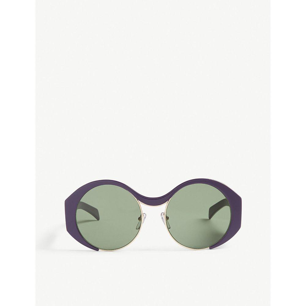 マルニ marni レディース メガネ・サングラス【me628s round-frame sunglasses】Purple/reddish