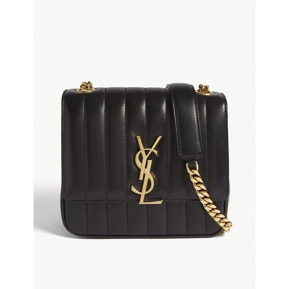 イヴ サンローラン saint laurent レディース バッグ ショルダーバッグ【vicky medium quilted leather cross-body bag】Black
