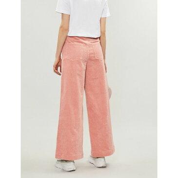 ガニー ganni レディース ボトムス・パンツ【ridgewood wide-leg high-rise corduroy trousers】Sil pink