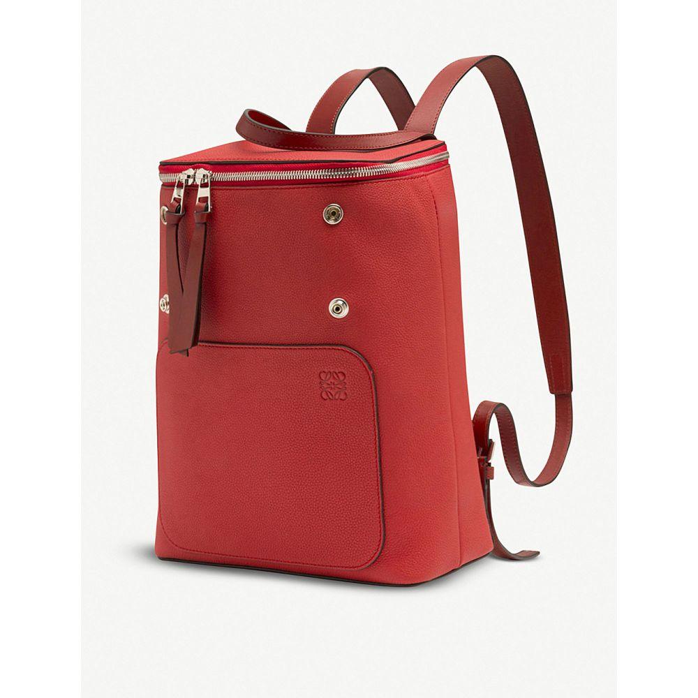 ロエベ loewe レディース バッグ バックパック・リュック【goya small leather backpack】Scarlet red/burnt re