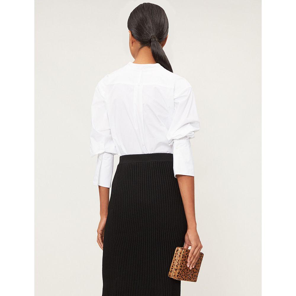 ジョゼフ joseph レディース トップス ブラウス・シャツ【eamon v-neck cotton shirt】White