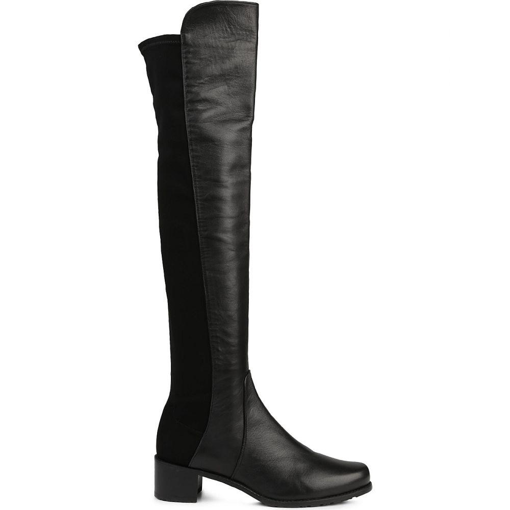 スチュアート ワイツマン stuart weitzman レディース シューズ・靴 ブーツ【reserve stretch-back leather boots】Black