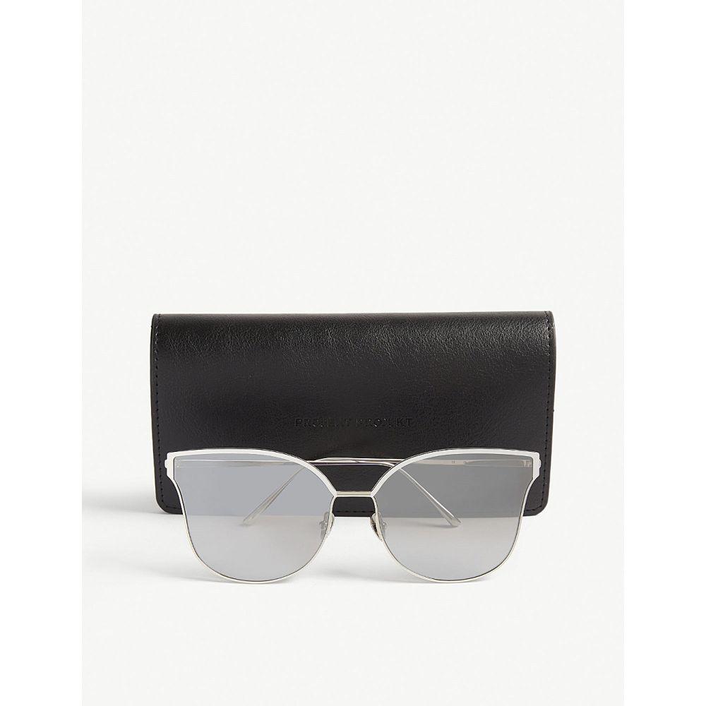 プロジェクトプロダクト project produckt レディース メガネ・サングラス【fn-11 cat-eye-frame sunglasses】Silver