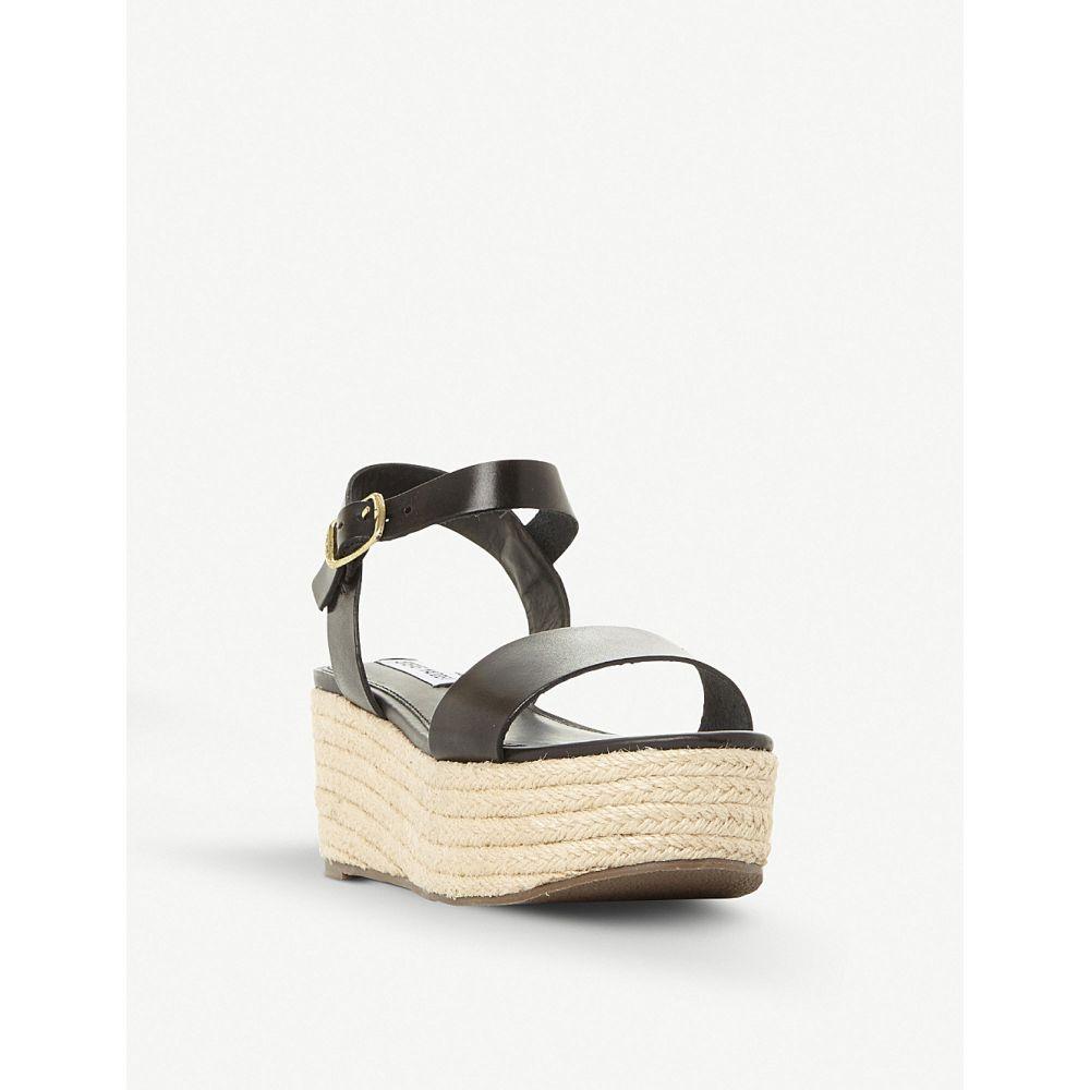 スティーブ マデン steve madden レディース シューズ・靴 サンダル・ミュール【busy sm leather and jute platform sandals】Black-leather