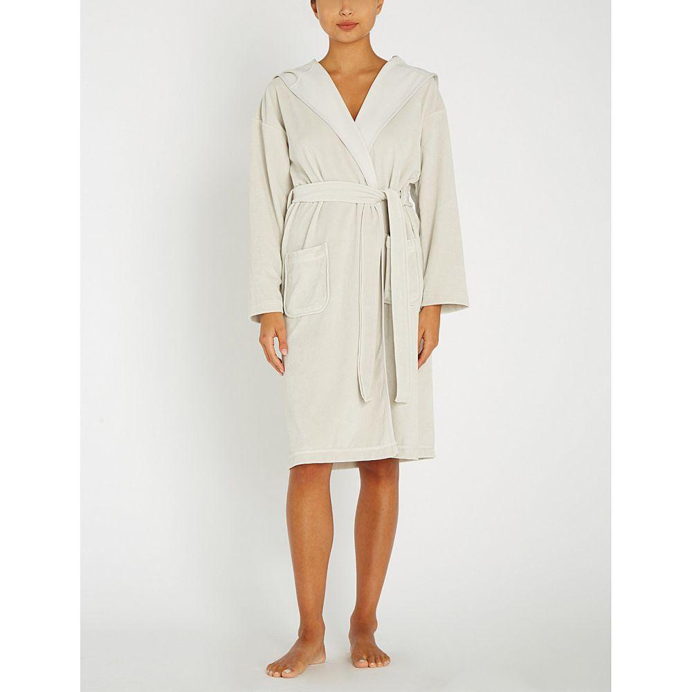 ザ ホワイト カンパニー the white company レディース インナー・下着 ガウン・バスローブ【hooded velour robe】Silver grey