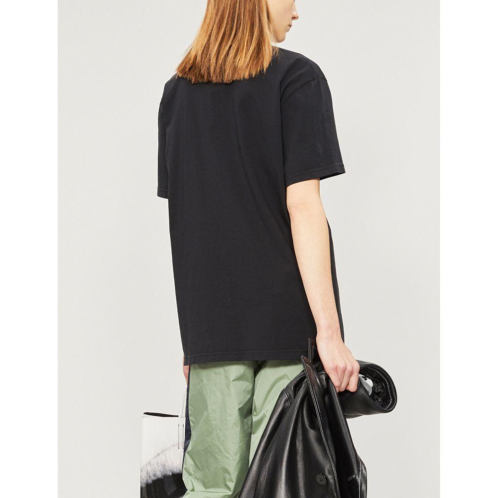 アクネ ストゥディオズ acne studios レディース トップス Tシャツ【egoya cotton-jersey t-shirt】Black