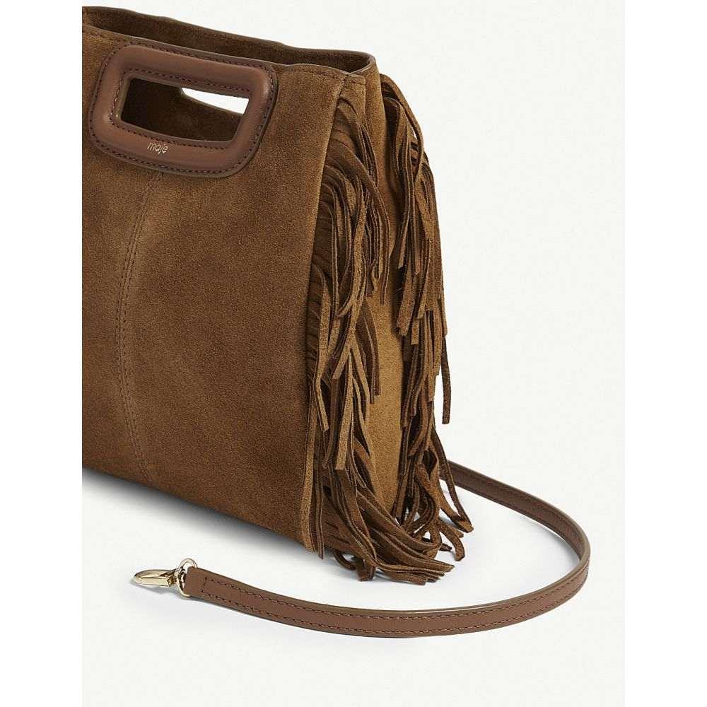 マージュ maje レディース バッグ ショルダーバッグ【mini m suede bag】Camel