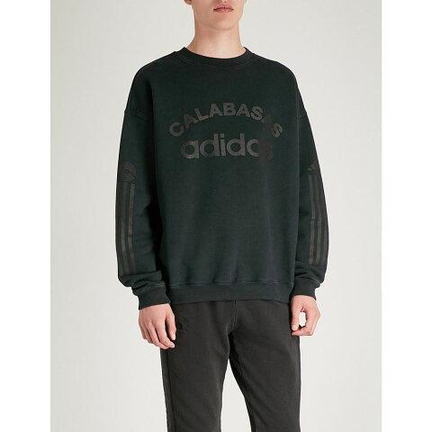 アディダス イージー yeezy メンズ トップス スウェット・トレーナー【x adidas season 6 logo-print cotton-jersey sweatshirt】Libra