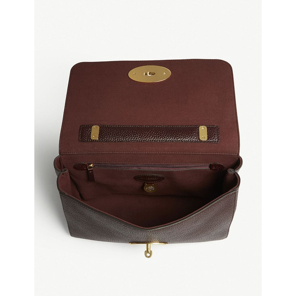 マルベリー mulberry レディース バッグ ショルダーバッグ【lily medium grained-leather shoulder bag】Oxblood