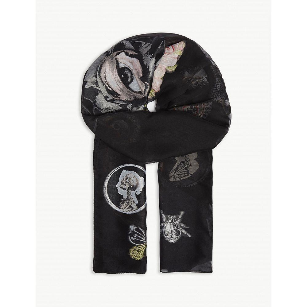 アレキサンダー マックイーン alexander mcqueen レディース マフラー・スカーフ・ストール【victorian curiosities scarf】Black/red
