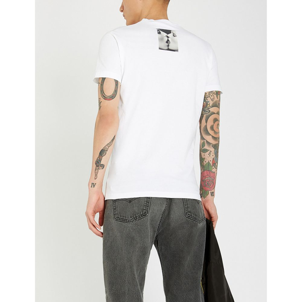 ディースクエアード dsquared2 メンズ トップス Tシャツ【mert and marcus 1994 kiss-print cotton-jersey t-shirt】White