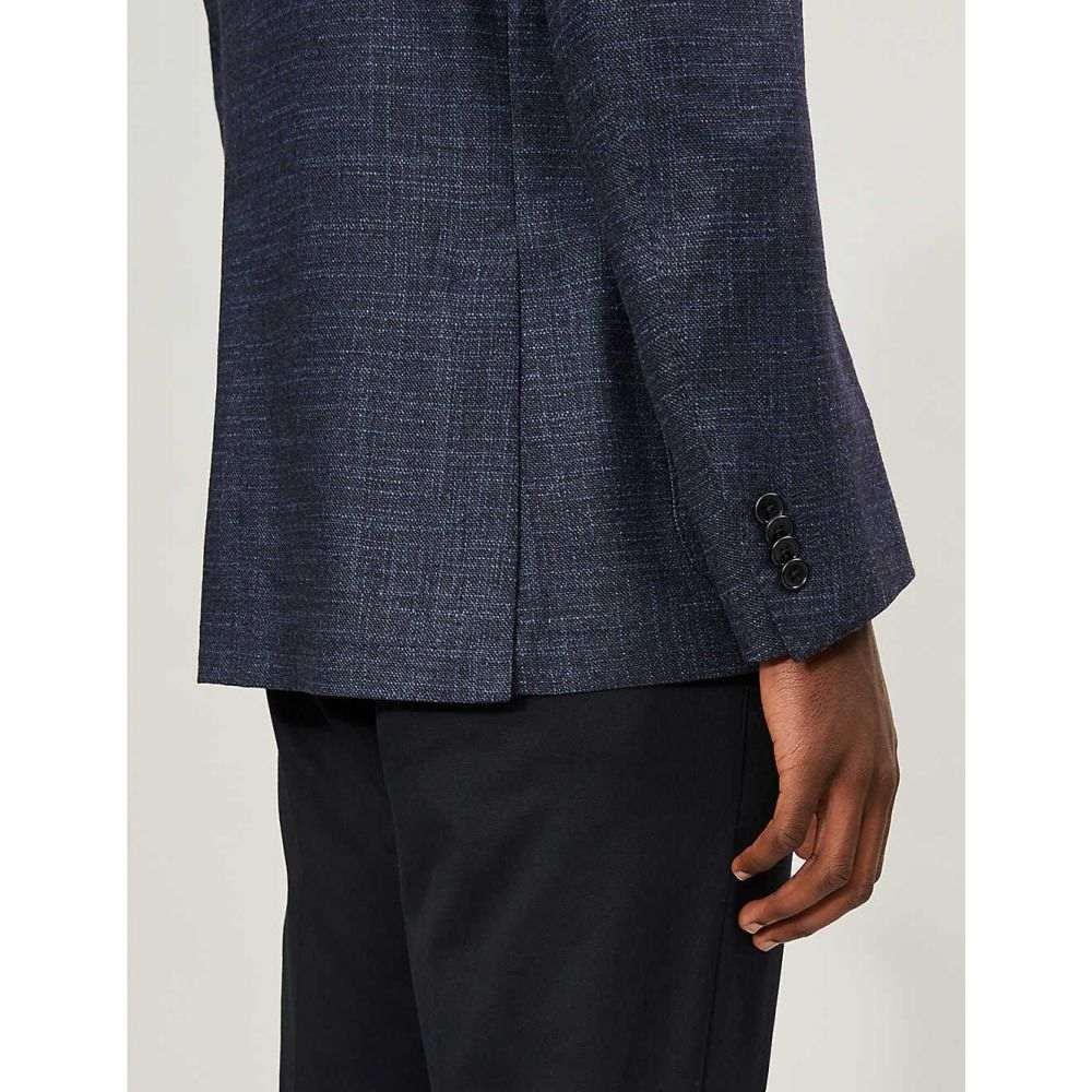 コルネリアーニ CORNELIANI メンズ アウター スーツ・ジャケット【Half-lined single-breasted wool and silk blazer】Navy