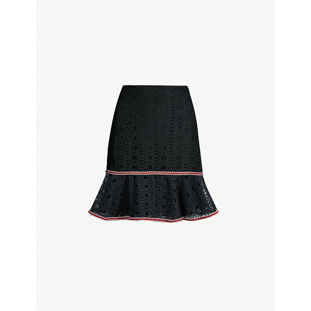 サンドロ SANDRO レディース スカート ミニスカート【Richard high-rise lace skirt】Black