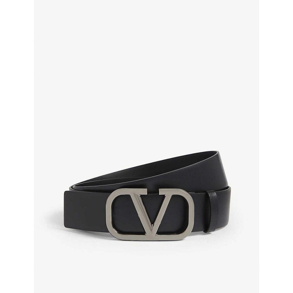 ヴァレンティノ VALENTINO メンズ ベルト【Go logo leather belt】Black matte