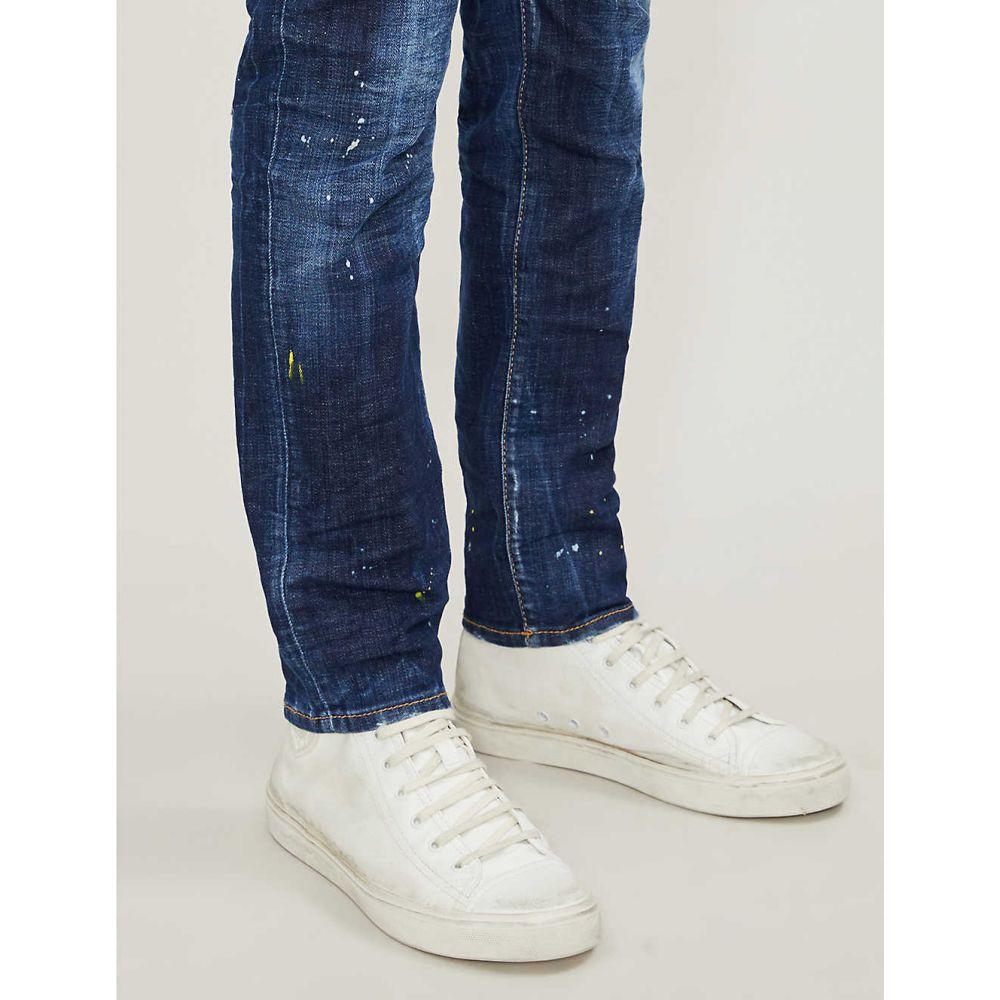 ディースクエアード DSQUARED2 メンズ ボトムス・パンツ ジーンズ・デニム【Distressed slim jeans】Blue