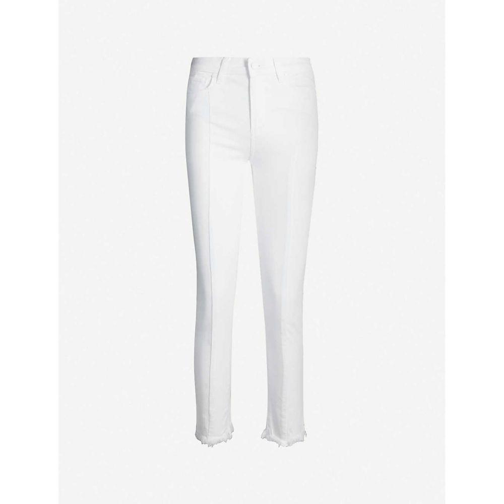 ペイジ PAIGE レディース ボトムス・パンツ ジーンズ・デニム【Frayed-cuff slim high-rise jeans】Crisp white