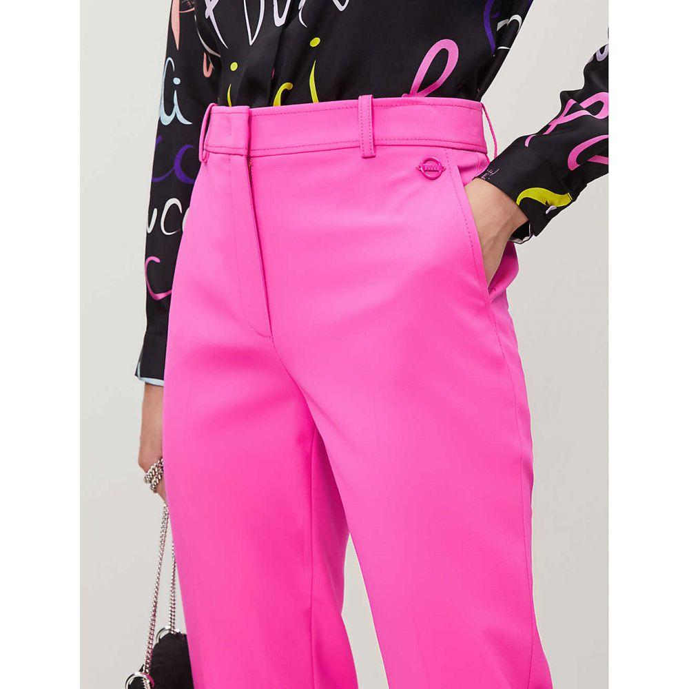 エミリオ プッチ EMILIO PUCCI レディース ボトムス・パンツ クロップド【Slim-fit cropped tapered woven-wool trousers】Rosa fluo