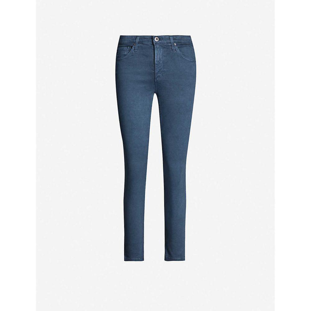 エージー AG レディース ボトムス・パンツ ジーンズ・デニム【Prima cigarette mid-rise cropped jeans】Sulfur sodalite blue